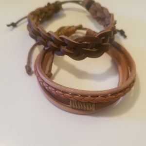 Jewelry - Fashionable Leather Style Cuff bracelets